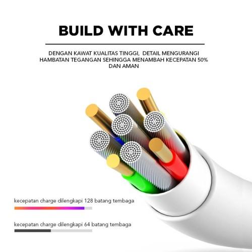 Foto Produk COD kabel data EYON Fast Charging 2A iPhone 150cm - Putih 2141 dari Clarias Shop