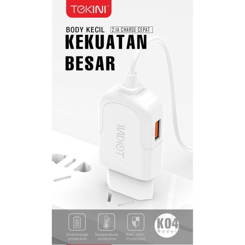 Foto Produk Travel Charger Tekini K04 Fast Charging Best Quality dari Clarias Shop