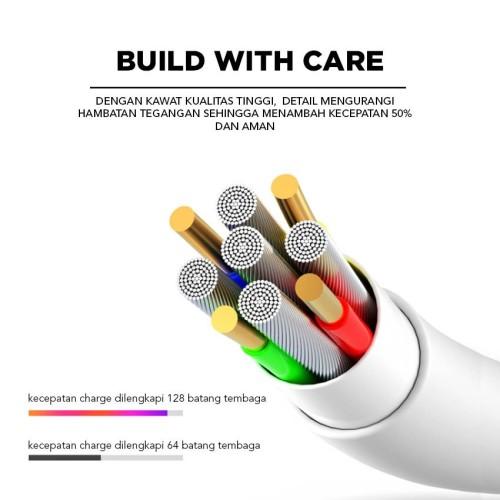 Foto Produk COD Kabel Data IOS For Iphone Merk EYON Fash Charging 2.A 100cm - Puti dari Clarias Shop