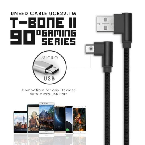 Foto Produk UNEED T Bone II Micro USB Quick Charging Kabel Charger 2M UCB22.1M dari Clarias Shop