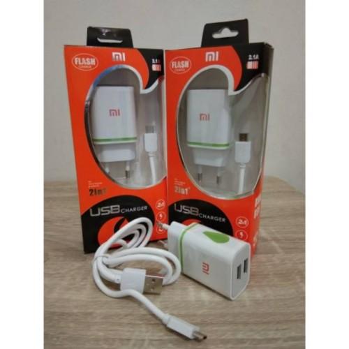 Foto Produk Charger Xiaomi LED 2in1 USB 2.1A Flash Charge dari Clarias Shop