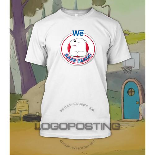 Foto Produk WE BARE BEARS - Kaos Tshirt Logoposting Nestle Bear Brand Ice Bear - Putih, L dari Logoposting