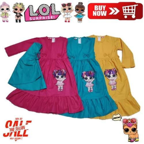 Foto Produk Gamis LOL LED Kaos Anak Muslim Hijab Dress Anak Perempuan Baju Muslim - 1 dari Deis_Shop