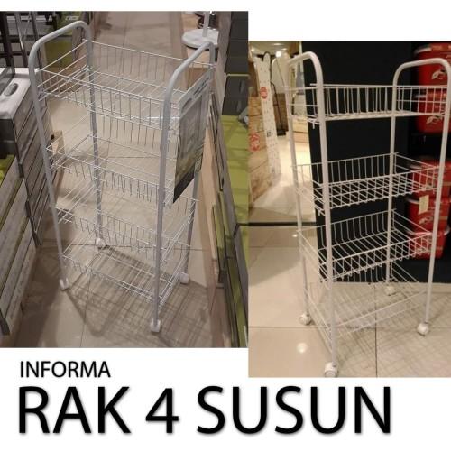 Foto Produk Rak 4 Tingkat RAK SERBAGUNA rak 4 susun INFORMA KERANJANG BUAH BERODA dari salam47