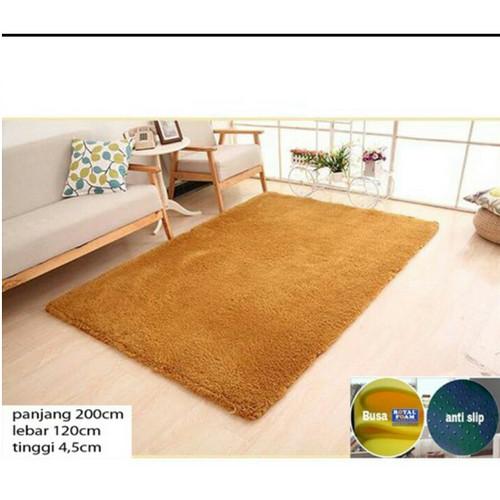 Foto Produk Karpet rasfur bulu 200 x 120 cm tebal 4 cm anti rontok - merah dari BROUMmedia
