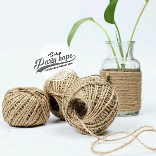 Foto Produk Tali Rami / Hemp Rope / Tali Benang Goni Vintage / Per Roll 50 METER - tebal 2mm dari PARTY HOPE 2