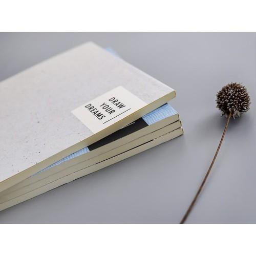 Foto Produk -Ready- FEEL OF TEXTURES PLAIN NOTEPAD B5 / BUKU CATATAN SEKOLAH dari King Milenial