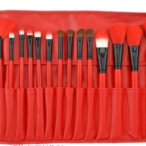 Foto Produk DOMPET MERAH MAKE UP Best Quality BRUSH SET RED FOR YOU isi 24 make dari darilynn