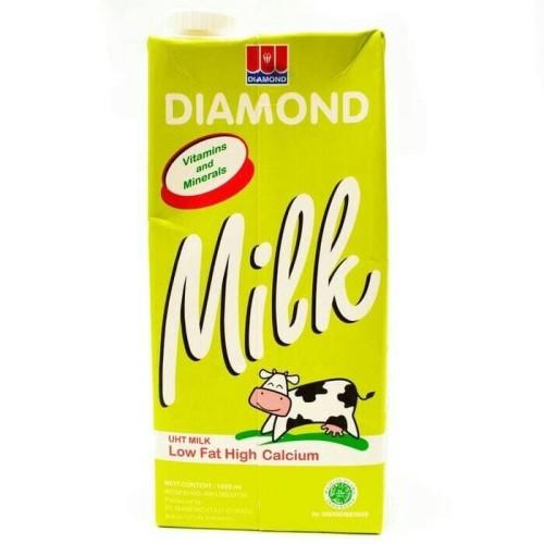 Foto Produk Susu UHT Diamond low fat haigh calcium 1liter dari AA multyshop