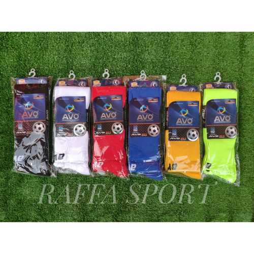 Foto Produk Kaos Kaki Sepak Bola Futsal AVO (panjang di atas lutut) - Hijau dari Raffa-Sport