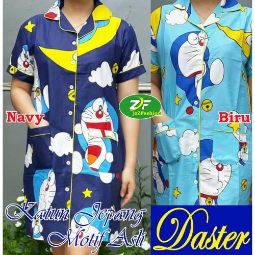 Foto Produk Daster / Dress - Doraemon / Baju Tidur wanita dewasa / Katun jepang - Navy, L dari joZFashion