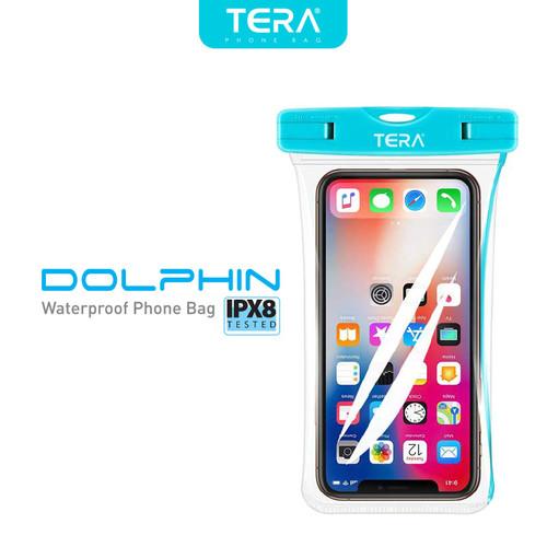 Foto Produk TERA Dolphin IPX8 Waterproof Phone Bag - Blue dari TERA Official Store