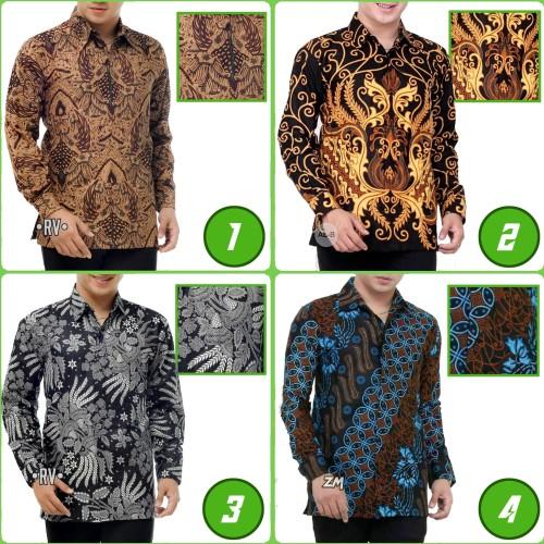 Foto Produk RESTOCK !! Kemeja Kantor Formal Batik Lengan Panjang Pria || NZ dari LautanBatik