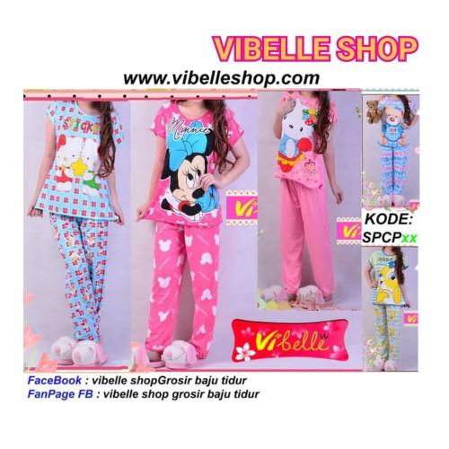 Foto Produk SPCPxxx - Vibelle shop grosir baju tidur piyama baby doll daster murah dari Vibelle Shop