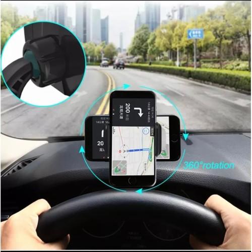 Foto Produk Holder HP Dashboard Mobil Universal Jepit 360 Car Phone Mount dari TB.Mutiara Jaya