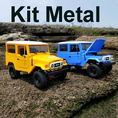 Foto Produk WPL C-34KM C34KM Metal 1/16 4WD Military Truck Off Road RC KIT Version - Biru dari RCmania Hobby