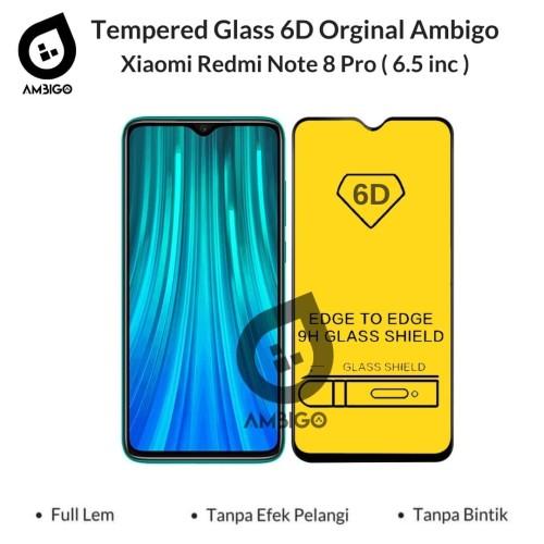 Foto Produk Tempered Glass 6D Xiaomi Redmi Note 8 Pro Full Cover Color Ambigo - Hitam dari Jagonya Case