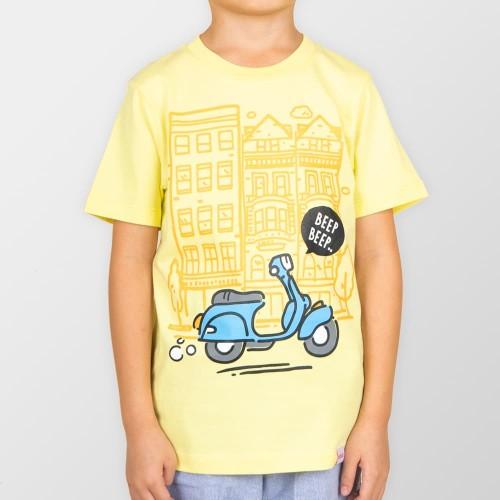 Foto Produk Moosca Kidswear Scooty Tshirt | Kaos Anak | Yellow - Size M dari Moosca Kidswear