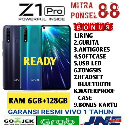 Foto Produk VIVO Z1 PRO RAM 6/128GB GARANSI RESMI VIVO INDONESIA - Sonic Blue dari Mitra Ponsel 88