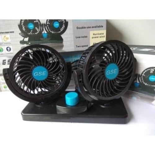 Foto Produk Kipas Angin Mobil Double Headed GSE-T303 Car Cooling Double Fan dari Toko Ganjaran