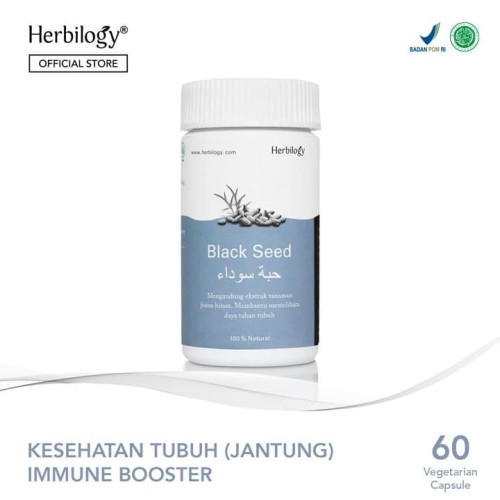 Foto Produk Herbilogy Black Seed (Jinten Hitam/Habbatussauda) 60 kapsul dari Herbilogy