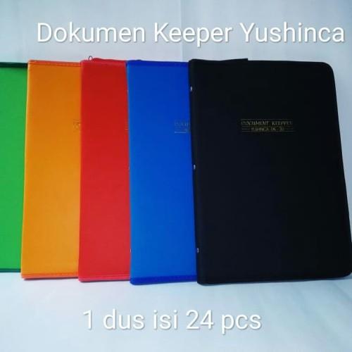 Foto Produk Map Dokumen Keeper Resleting Yushinca DK 60 Lbr - Hitam dari Pembina Stationery
