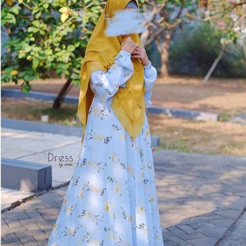 Foto Produk Amiirah dress (Maya) by Dress by Airin - Biru Muda, M dari FWS sale