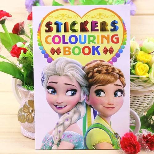 Foto Produk COLOURING BOOK GOODY BAG ULang TAHun buku mewarnai frozen mickey cars - Princess dari Baby Angeline Shop