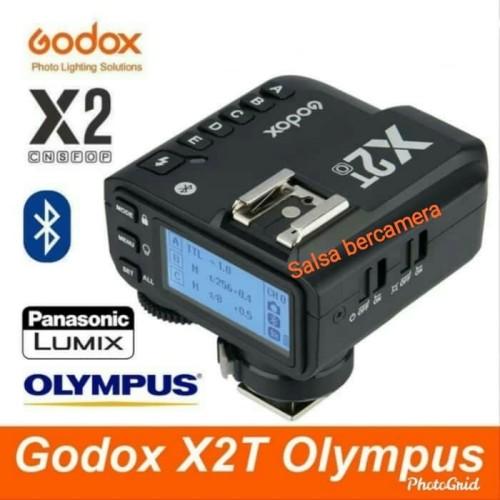 Foto Produk Trigger Godox X2T For Olympus Panasonic Trigger Transmitter TTL HSS - Hitam dari salsa bercamera