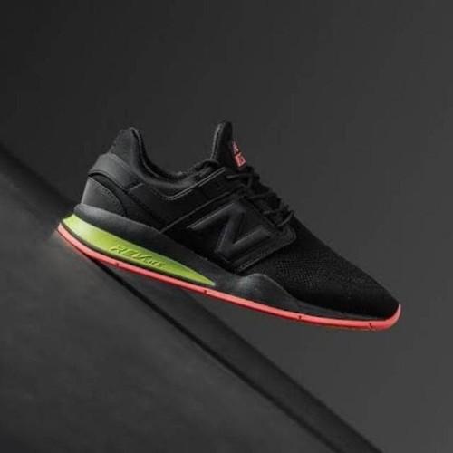 New Balance 247 Revlite Black Solar Red Green For Men Premium