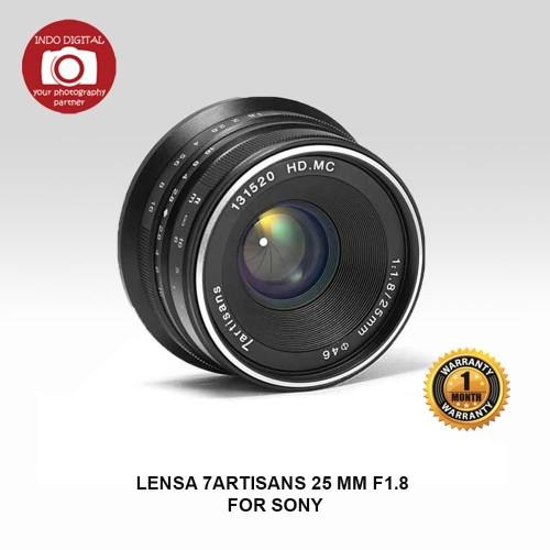 Foto Produk LENSA 7ARTISANS 25 MM F1.8 FOR SONY dari Indo Digital Nusantara