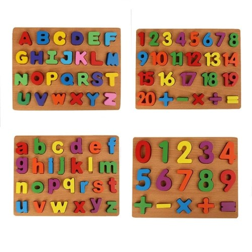 Foto Produk Mainan Edukasi Anak PUZZLE CHUNKY ALFABET dan ANGKA WARNA WARNI - Huruf Besar dari lovely kayy