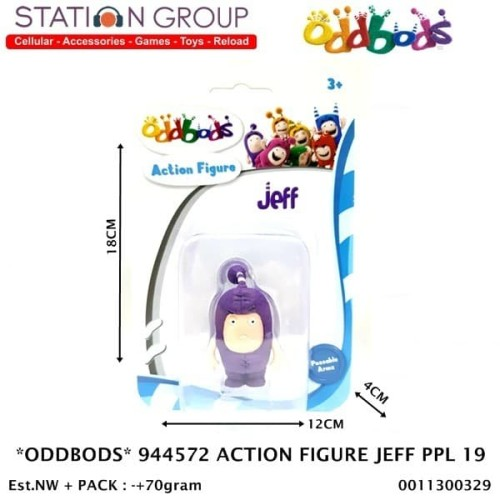 Foto Produk ODDBODS 944572 ACTION FIGURE JEFF PURPLE 19 dari Station Group