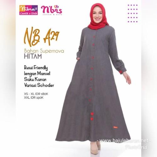 Jual Gamis Polos Nibras Nb A29 Warna Hitam Bahan Katun Supernova Busui Adem Kota Tangerang Selatan Hibban Online Shop Tokopedia