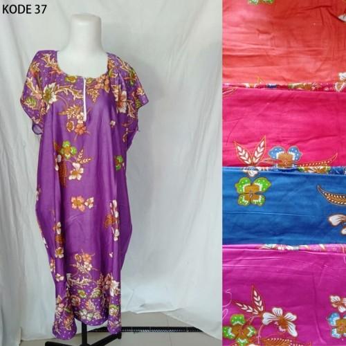 Foto Produk Grosir Daster Midi Jumbo Rayon Busui Zipper Murah Baju Tidur Kode 37 dari Tshirt Kita