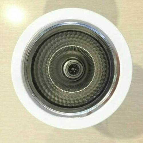 """Foto Produk Kap Fitting Downlight 5 inchi 5"""" inch Inci White Putih Rumah Lampu dari ShineElectric"""