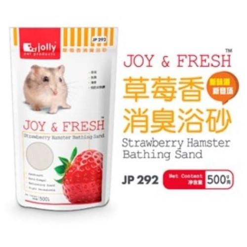 Foto Produk JP292 Jolly Strawberry Hamster Bathing Sand 500gr Pasir Mandi Wangi dari Hime petshop