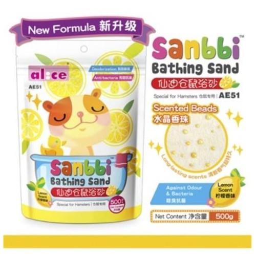 Foto Produk AE51 Alice Sanbbi Bath Sand Lemon 500gr Pasir Mandi Wangi Hamster dari Hime petshop