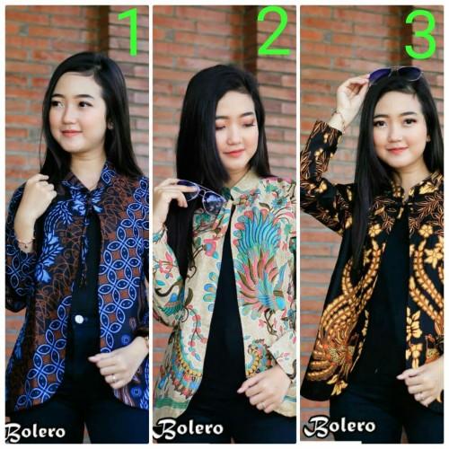 Foto Produk Baju batik wanita blouse bolero dari SANTY-COLLECTION