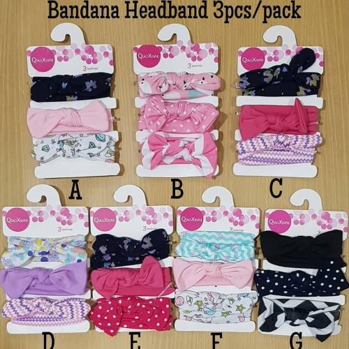 Foto Produk bandana bando headband anak bayi 3in1 import motif lucu dari Lilbyshop