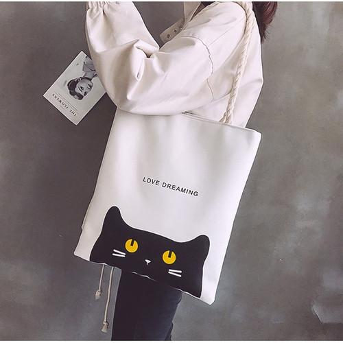 Jual Creative White Tote Bag Tas Wanita Aesthetic Tote Bag Love Dreaming Kab Bandung Barat Akomp Store Tokopedia