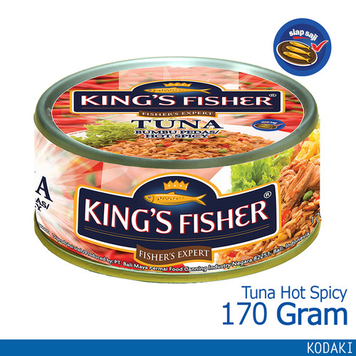 Foto Produk King's Fisher Tuna Canned Hot Spicy Daging Tuna Makanan Kaleng 170 g dari Kings Fisher
