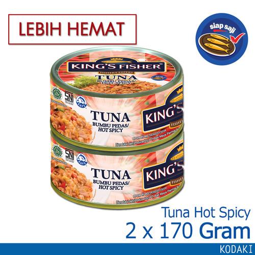 Foto Produk Paket 2 Pcs King's Fisher Tuna Kalen Canned Hot Spicy Daging Tuna 170g dari Kings Fisher