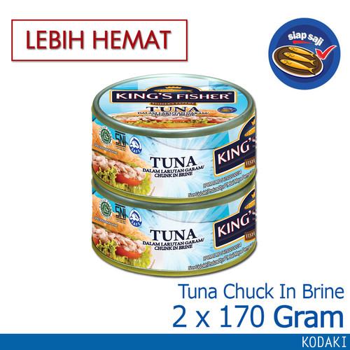 Foto Produk Paket 2 pcs King's Fisher Tuna Kaleng Air Garam Tuna in Brine 170g dari Kings Fisher