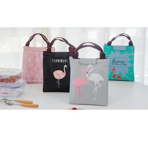 Foto Produk E2K1 lunch bag tas bekal cooler bag FLAMINGO - TAS FLAMINGO dari Green Cosme