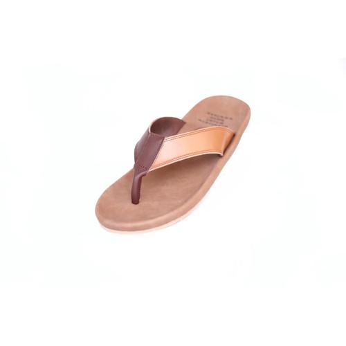 Foto Produk Sandal Kulit Original Cevany Jarvis Pria - Sendal Jepit - Cokelat, 39 dari House Shoes