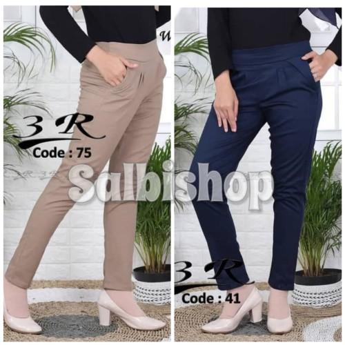 Foto Produk Celana chino 3R celana kerja wanita pinggang karet - XL dari salbishop