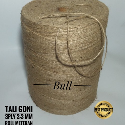 Foto Produk Tali Goni,Tali Rami, 2 - 3 mm 3 ply meteran/Roll(panjang 100 meter) dari kartibull shop