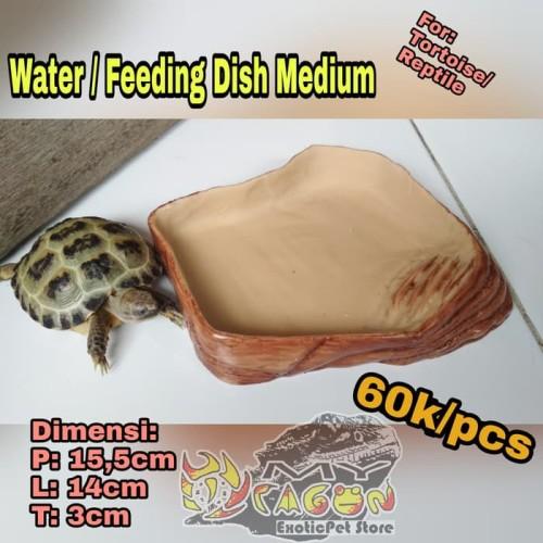 Foto Produk Reptile Water Dish Feeding Top Notch Dish Torto Tortoise Dish Re dari askanahana