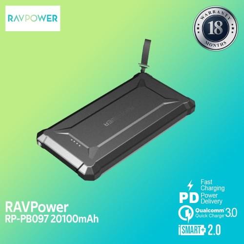 Foto Produk RAVPower Waterproof Powerbank 20100mAh with PD45W+QC3.0 -[RP-PB097] dari RAVPower Official Store